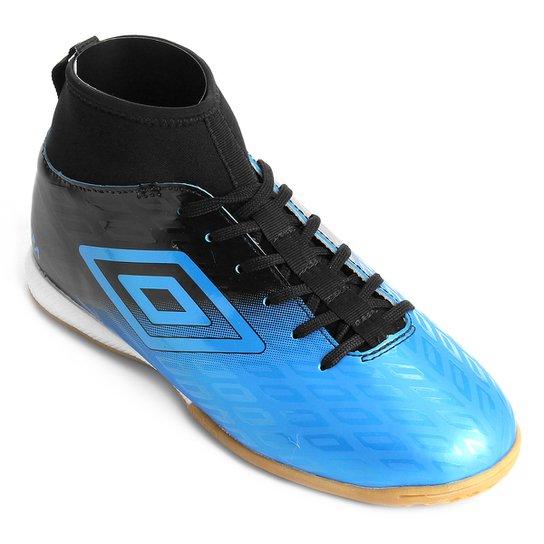 Chuteira Futsal Umbro Calibra - Azul+Preto