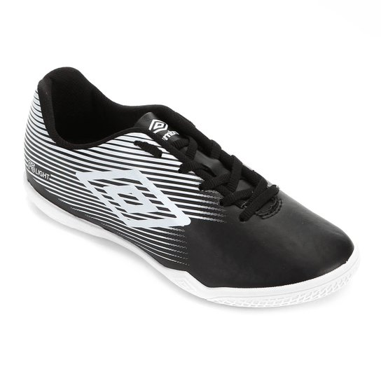Chuteira Futsal Umbro F5 Light - Preto+Branco