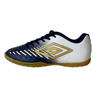 Chuteira Futsal Umbro Fifty III - Marinho e Branco