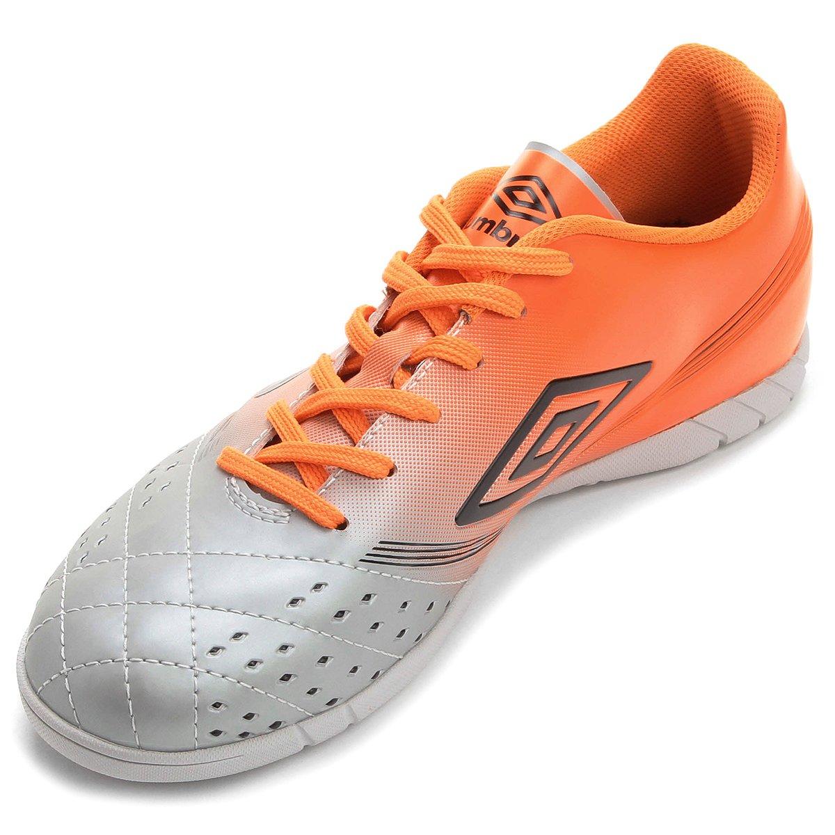 ac22b2b80b ... Chuteira Futsal Umbro Fifty. Chuteira Futsal Umbro Fifty - Cinza+Laranja