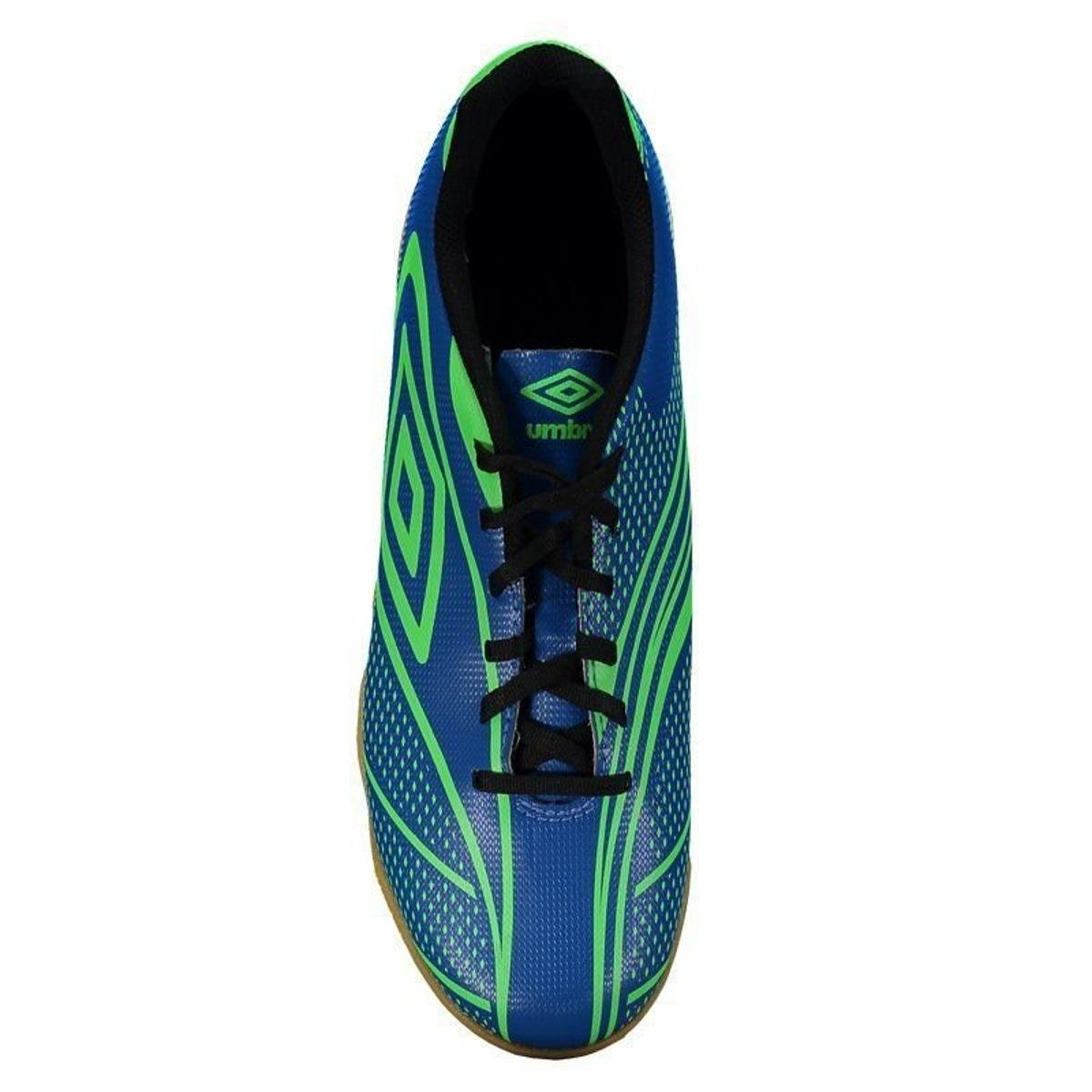 1bae0e8e1c Chuteira Futsal Umbro Fury - Azul e Verde - Compre Agora