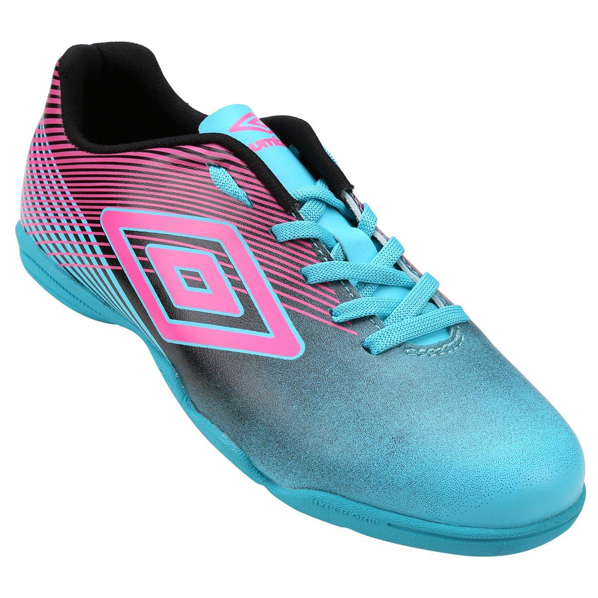 Chuteira Futsal Umbro Slice 3 Masculina - Azul e Rosa - Compre Agora ... 40894019271f5