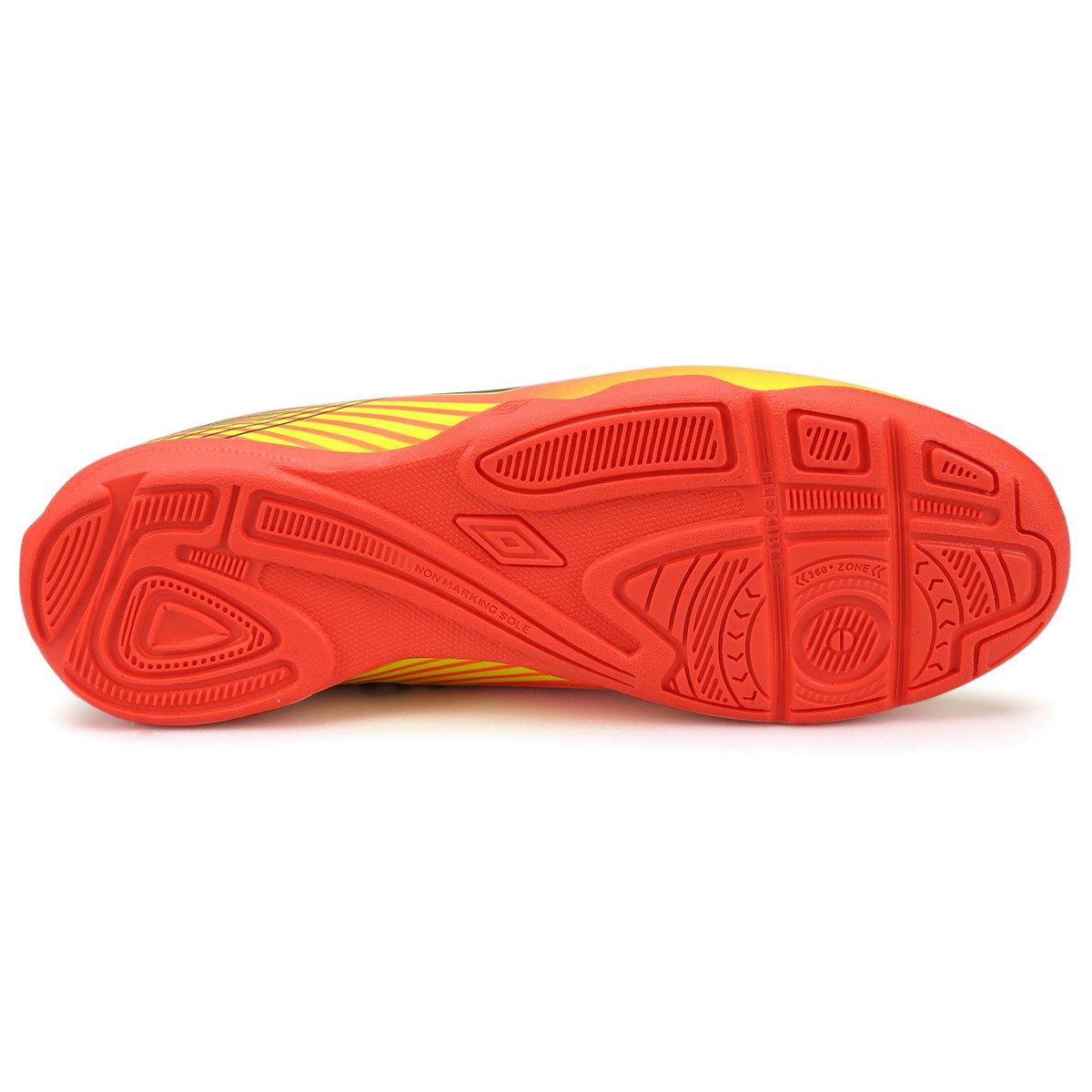 Chuteira Futsal Umbro Slice 3 Masculina - Laranja e Verde - Compre ... 30920c02feb0c