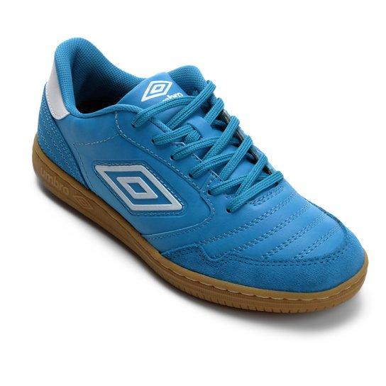 Chuteira Futsal Umbro Speciali F5 - Azul+Branco
