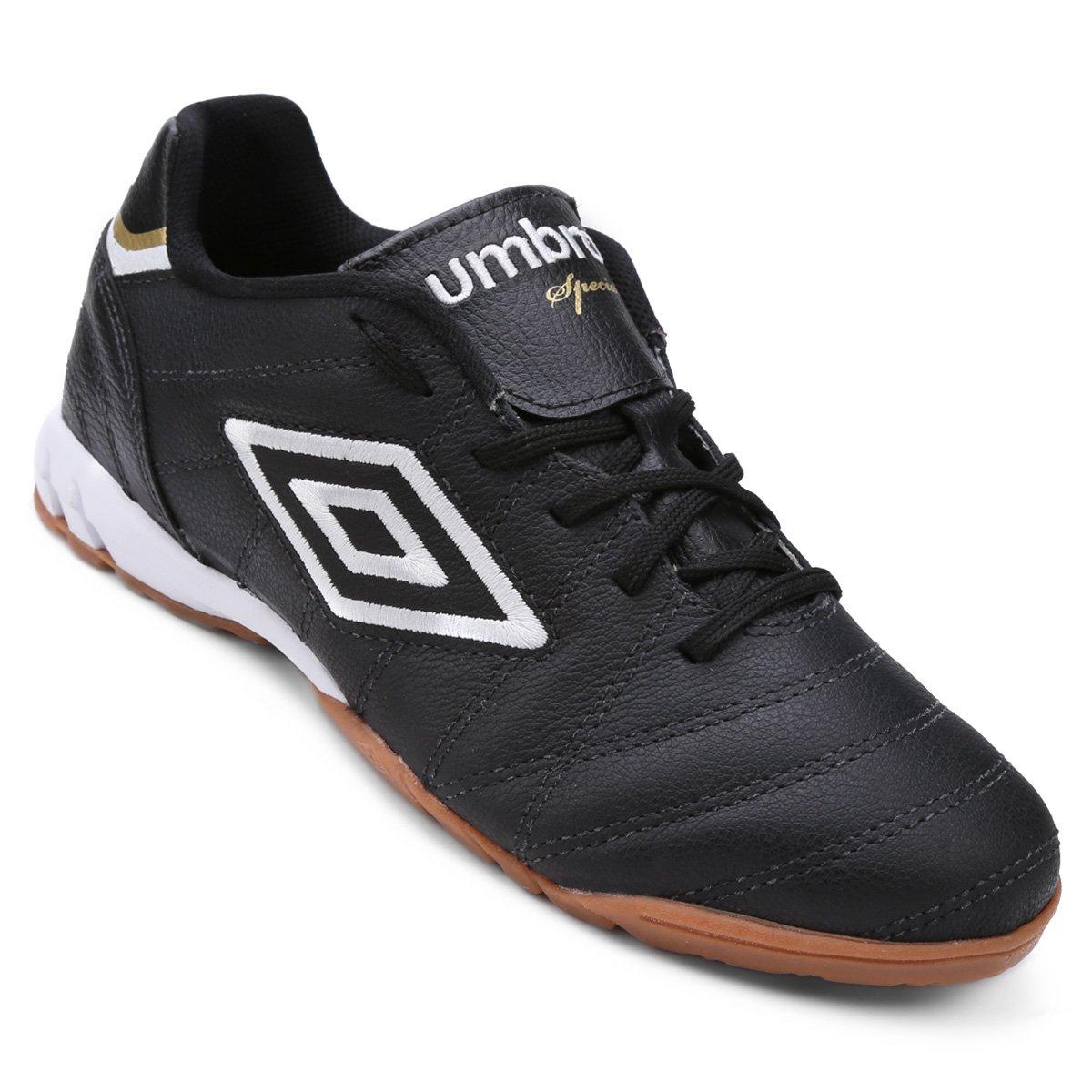 Chuteira Futsal Umbro Speciali Premier Masculina - Preto e Branco ... 2ae9e7f936a09