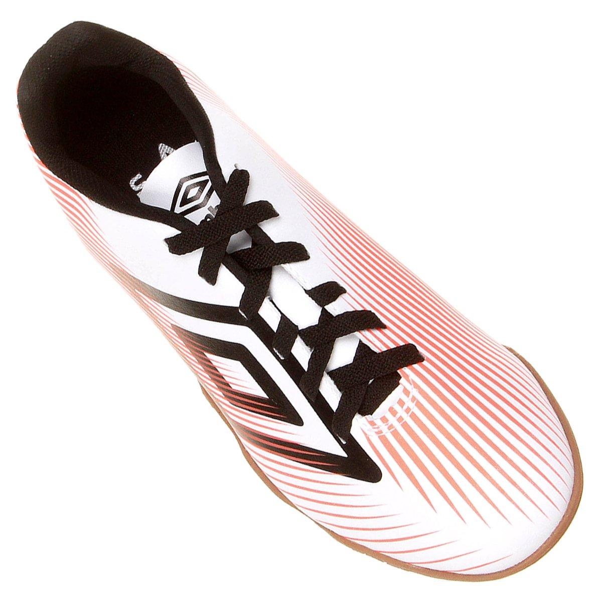 Chuteira Futsal Umbro Speed II Masculina - Branco e Preto - Compre ... f2f9b1b693510