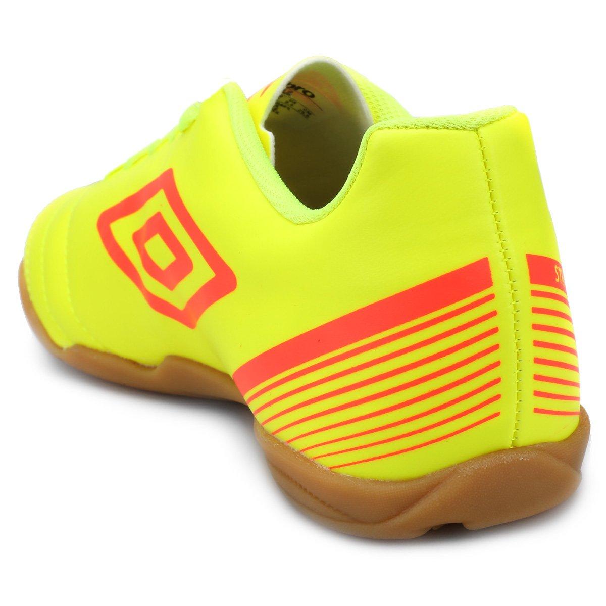 Vermelho Amarelo 3 Masculina e Chuteira Fluorescente Futsal Umbro Striker Owq8x7T8