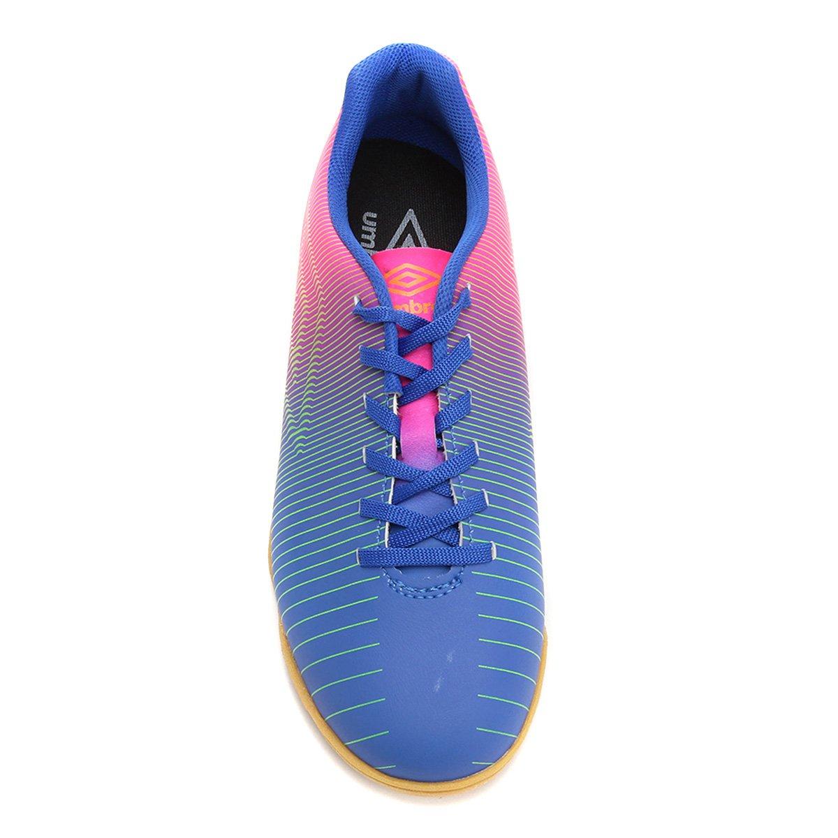 Chuteira Futsal Umbro Vibe Masculina - Azul e Rosa - Compre Agora ... d6ab267939019