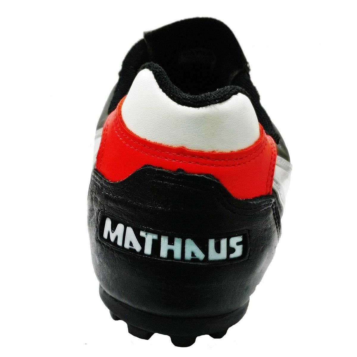 Chuteira Mathaus Society Veneza - Preto e Branco - Compre Agora ... a93e3d8b18103