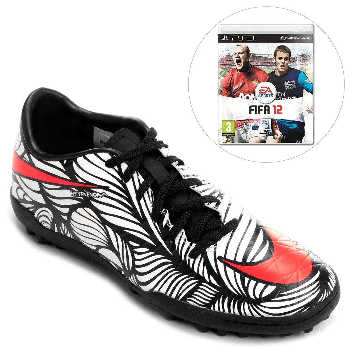 407b6bf5468e6 Chuteira Nike Hypervenom Phelon II NJR TF Society + Jogo FIFA Soccer 12 PS3  - Compre Agora | Netshoes