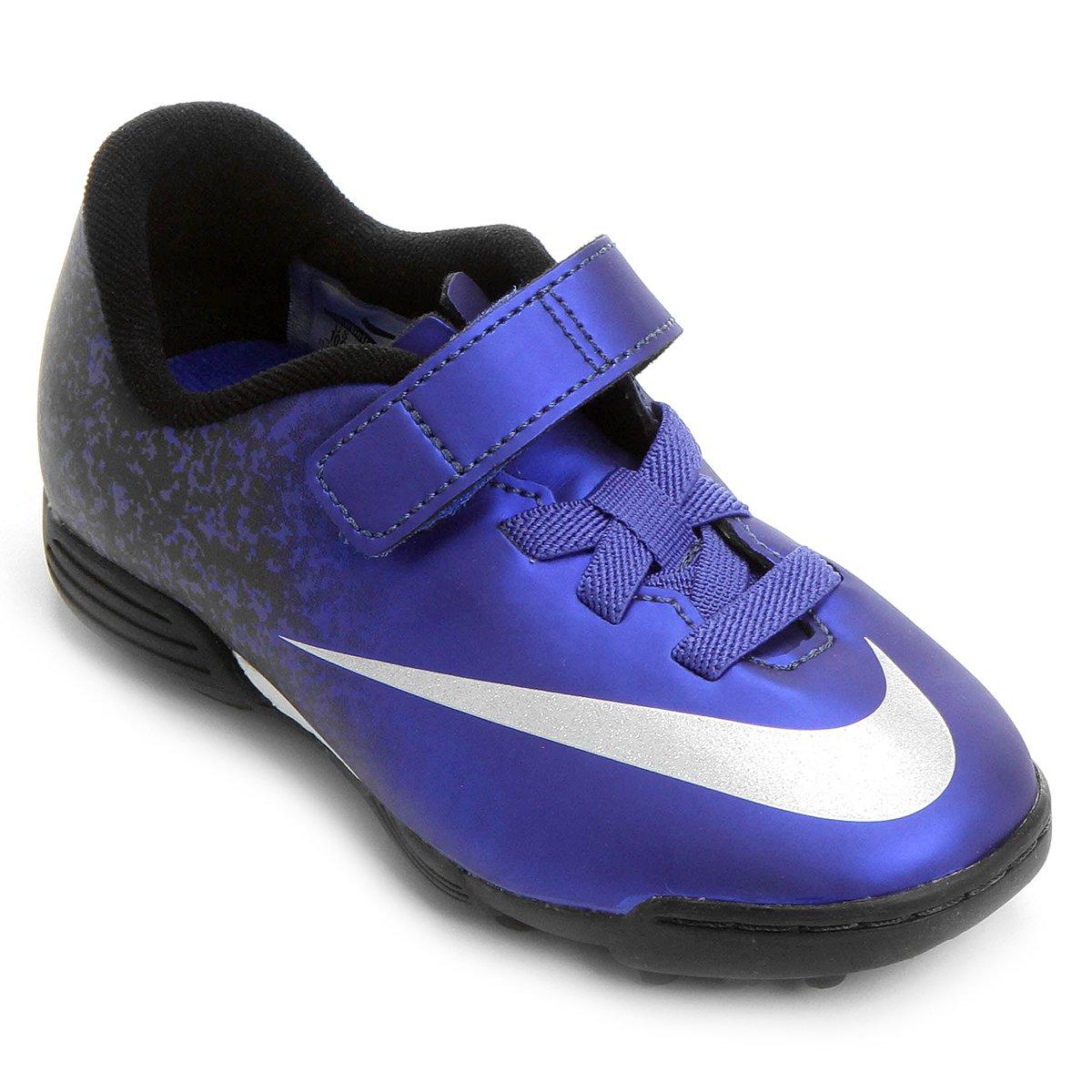 Chuteira Nike Mercurial Vortex 2 (V) CR7 TF Society Infantil - Compre Agora   0d4777f477040