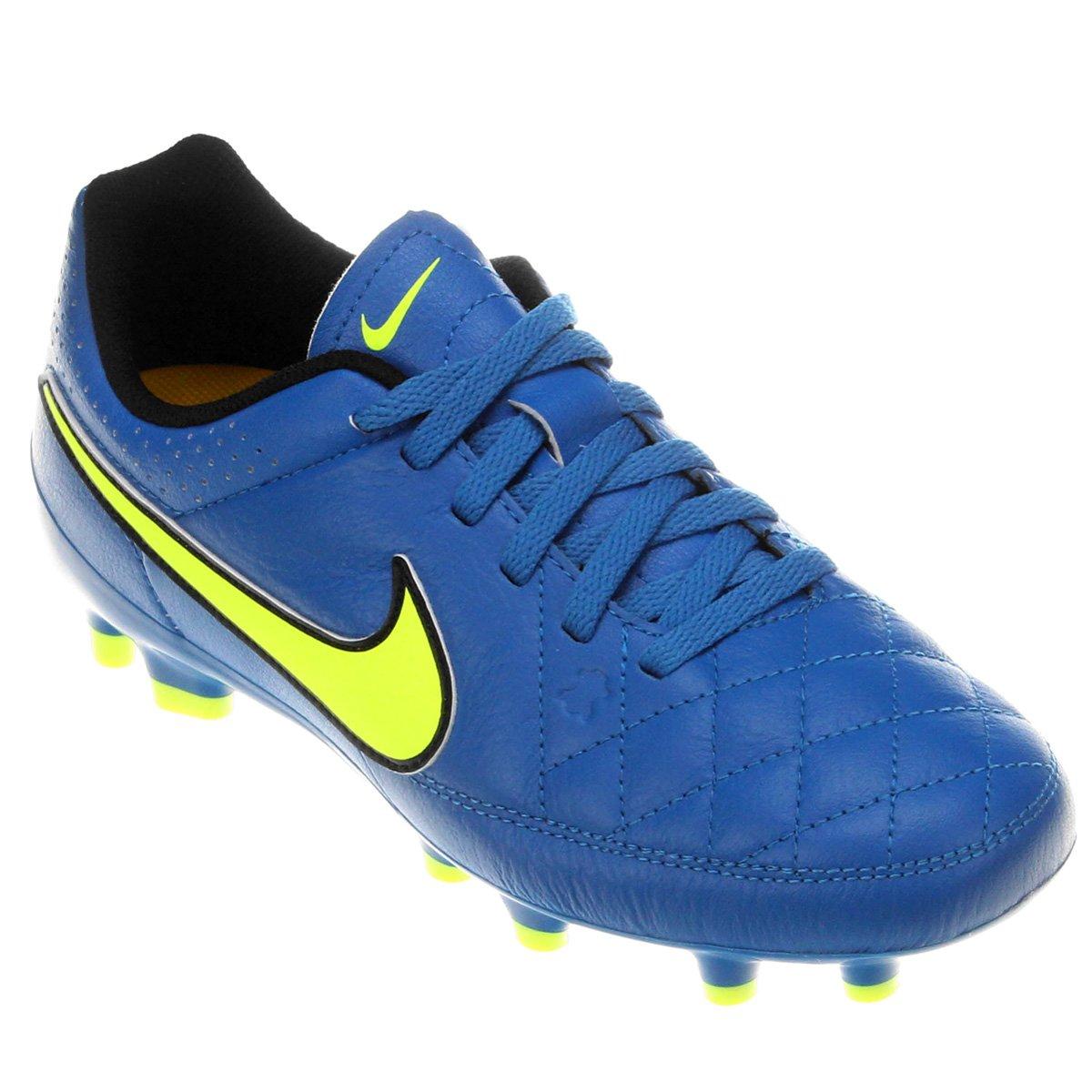 77dea25dc4 Chuteira Nike Tiempo Gênio Leather FG Campo Infantil - Compre Agora ...