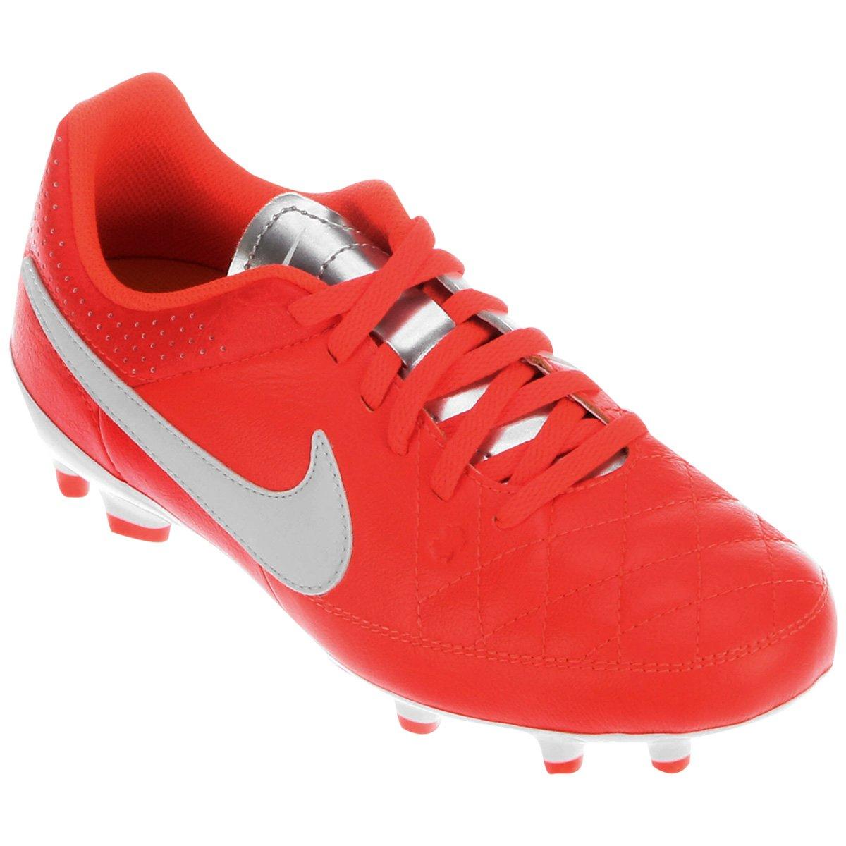 Chuteira Nike Tiempo Gênio Leather FG Campo Infantil - Compre Agora ... 8100723bd7766