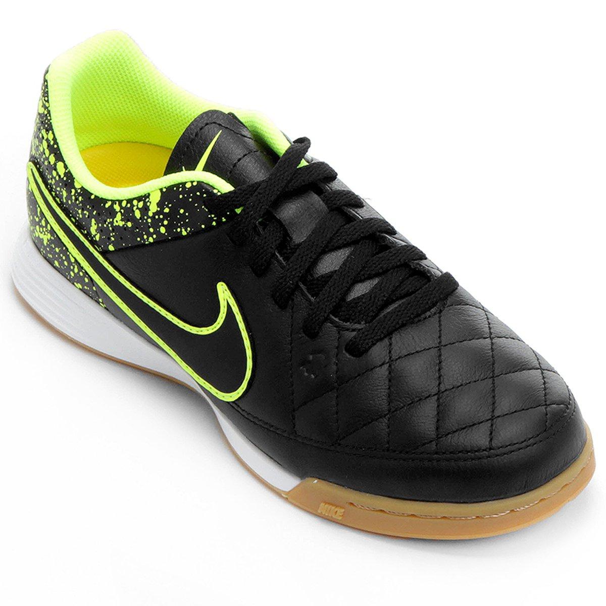 df40f132bafb4 Chuteira Nike Tiempo Gênio Leather IC Futsal Infantil - Compre Agora ...