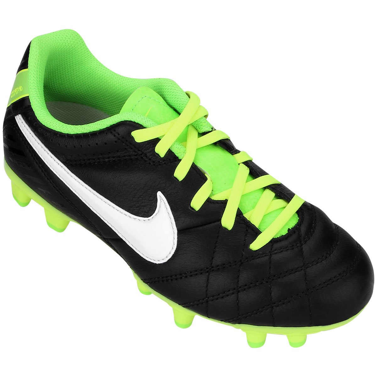 Chuteira Nike Tiempo Natural 4 FG Leather Infantil - Compre Agora ... b956f321bd7f4