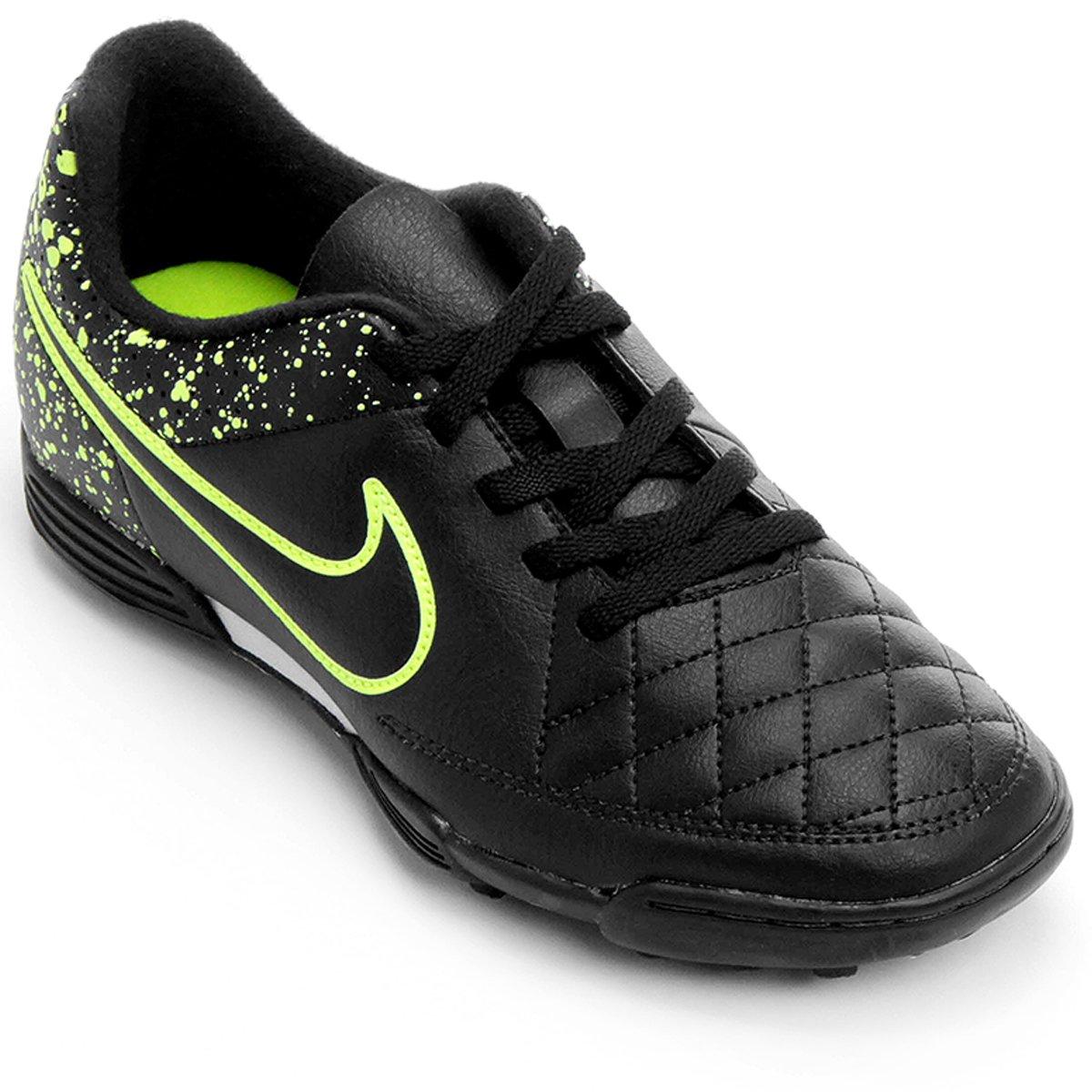 bfede953ea Chuteira Nike Tiempo Rio 2 TF Society Infantil - Compre Agora