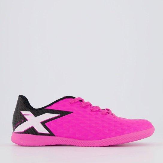 Chuteira Oxn Gênio 3 Futsal Juvenil Rosa - Rosa