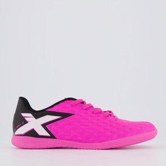 Chuteira Oxn Gênio 3 Futsal Juvenil Rosa