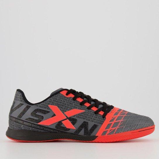 Chuteira Oxn Vision Futsal - Cinza