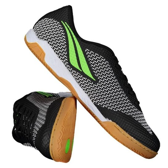 Chuteira Penalty Max 500 IX Futsal - Preto+verde