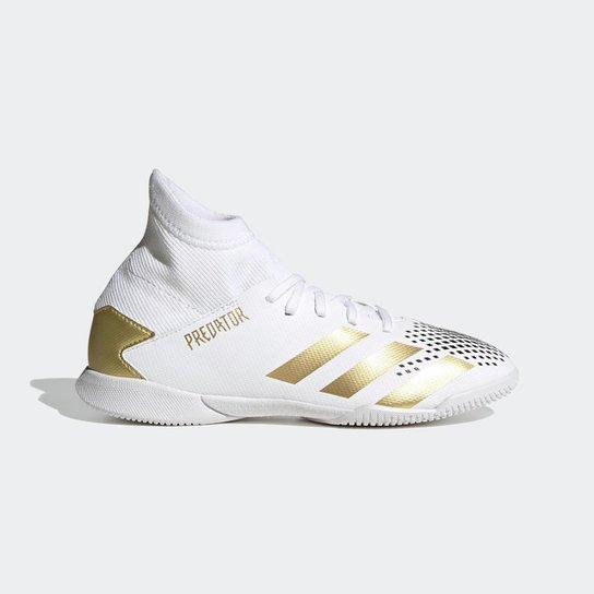 Chuteira Predator Mutator 20.3 Futsal Adidas - Branco+Amarelo