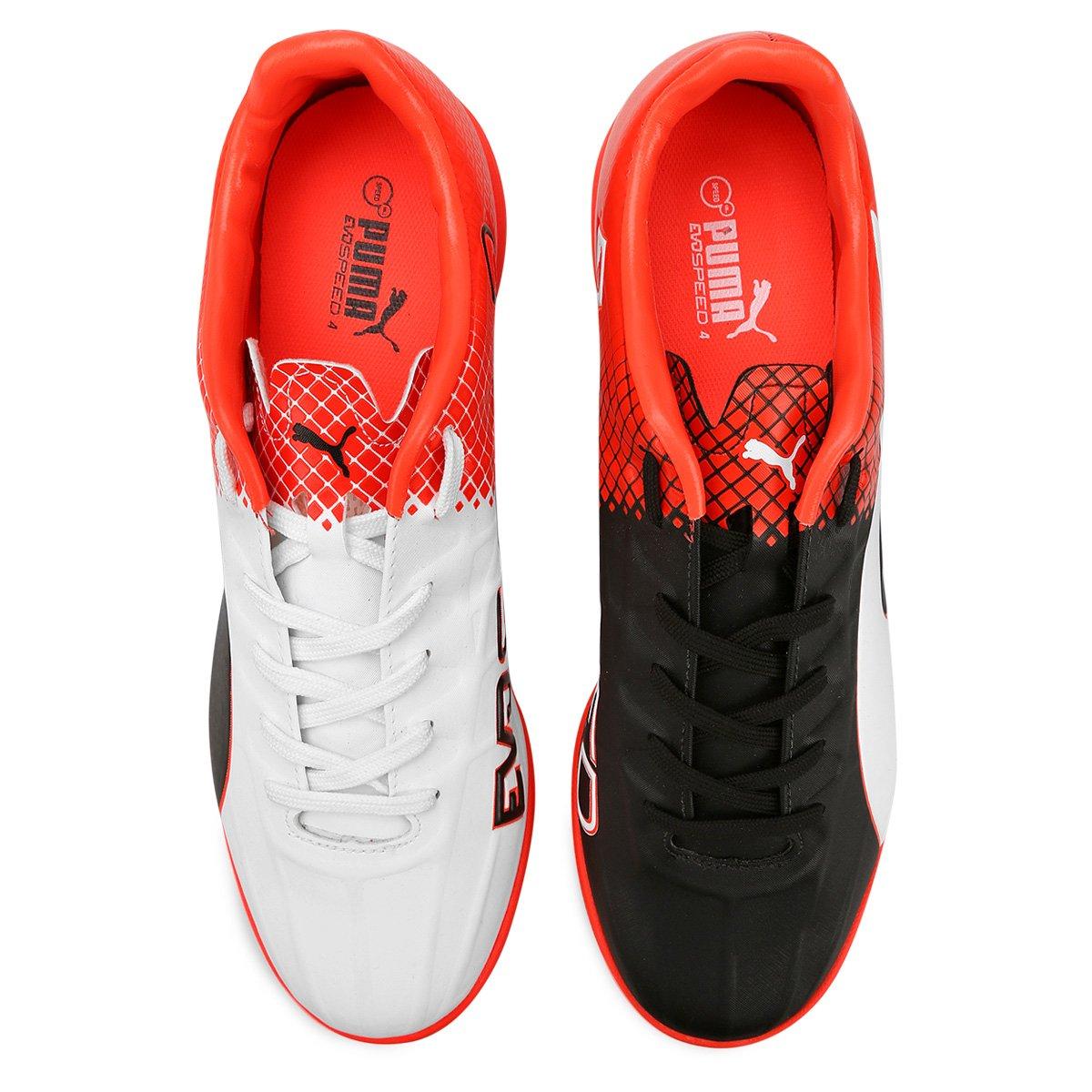 604e1ce00a Chuteira Puma Evospeed 4.5 Tricks IT BDP Futsal - Preto e Vermelho ...