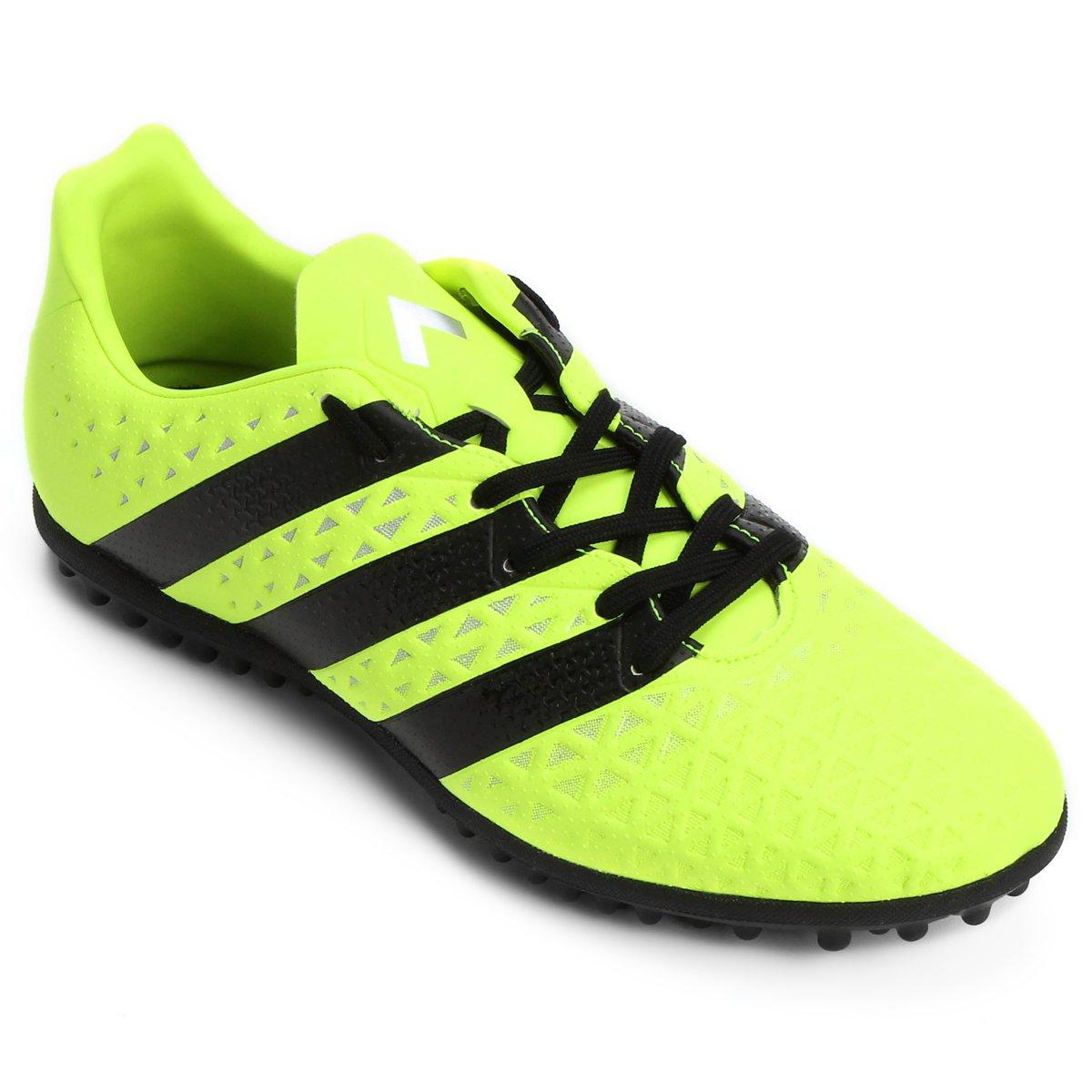 5f38f6b75b Chuteira Society Adidas Ace 16.3 TF Masculina - Verde Limão e Preto ...
