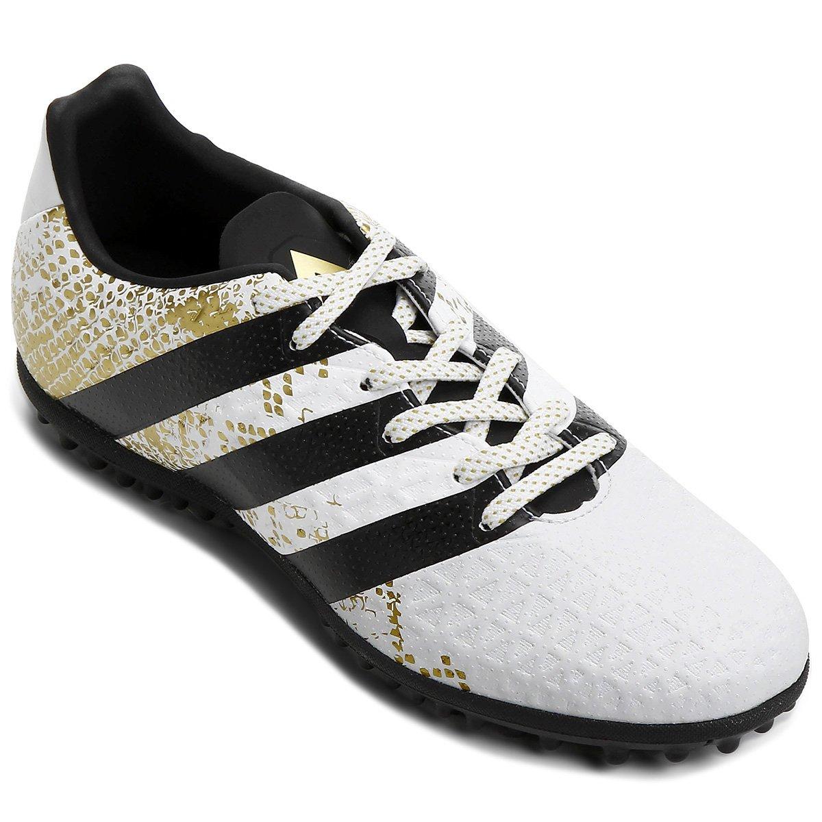 5be7d6c6e8 Chuteira Society Adidas Ace 16.3 TF Masculina - Branco e Preto ...