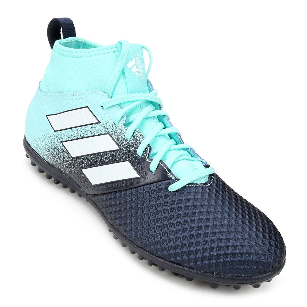 Chuteira Society Adidas Ace 17.3 TF - Azul e Preto - Compre Agora ... 5a6fc5d2cb597