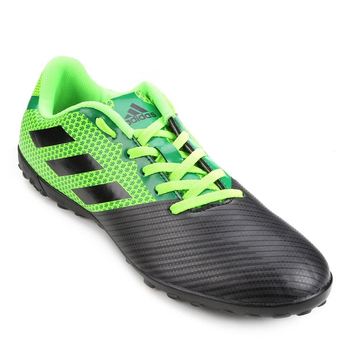 Chuteira Society Adidas Artilheira 17 TF - Verde e Preto - Compre ... 20941d1bc7af1