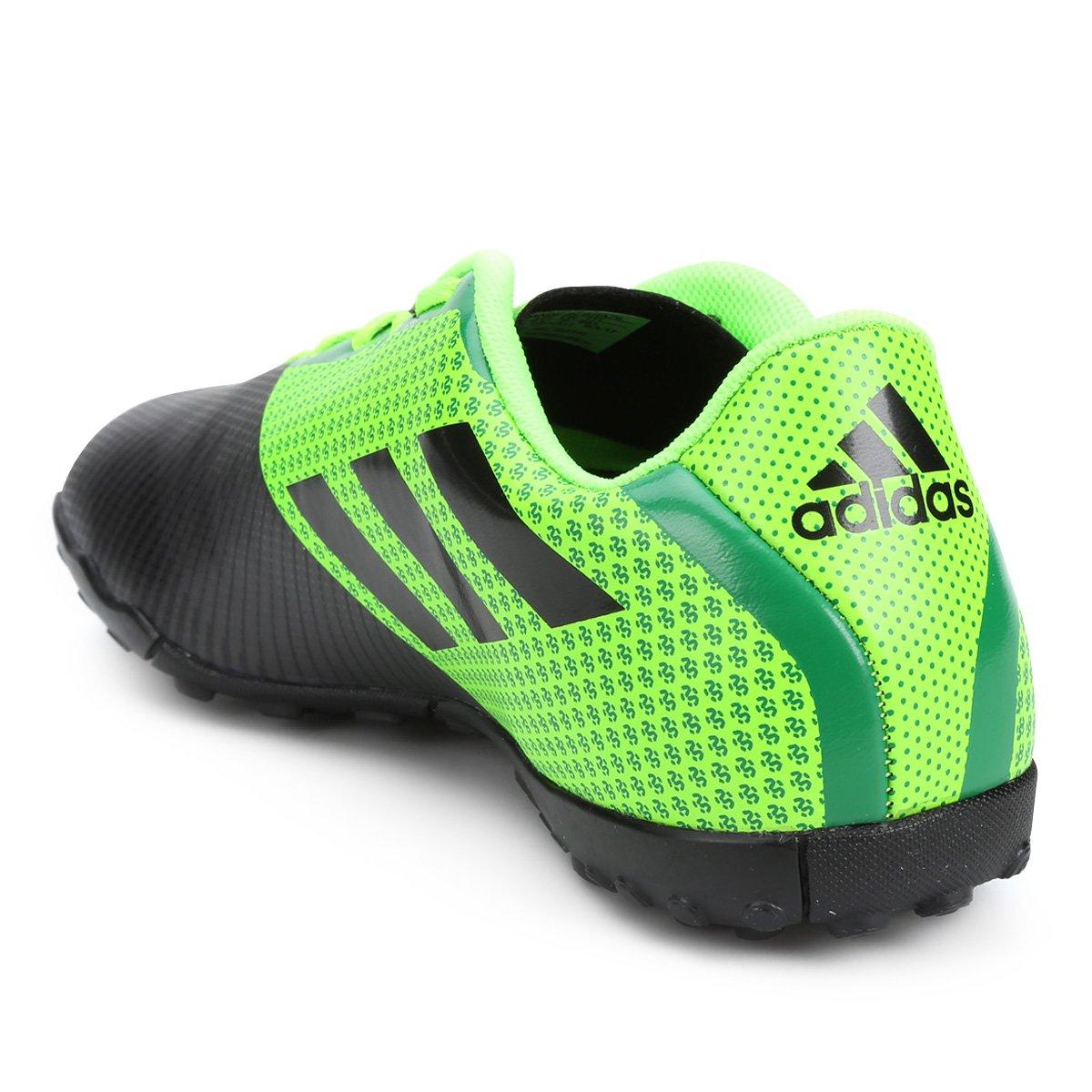 Chuteira Society Adidas Artilheira 17 TF - Verde e Preto - Compre ... c25188afa519b