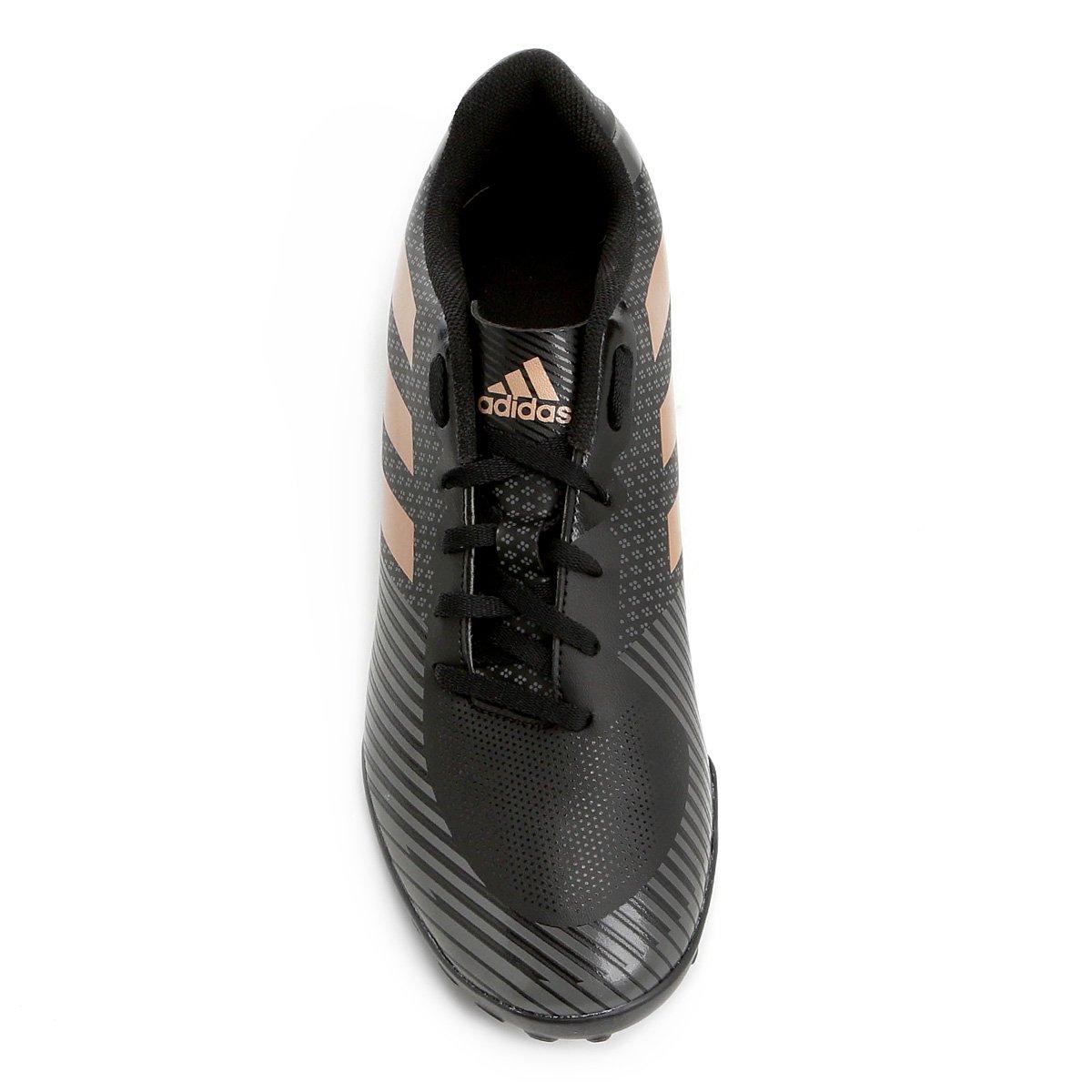 Chuteira Society Adidas Artilheira 18 TF - Preto e Grafite - Compre ... 07f2c69fccd87
