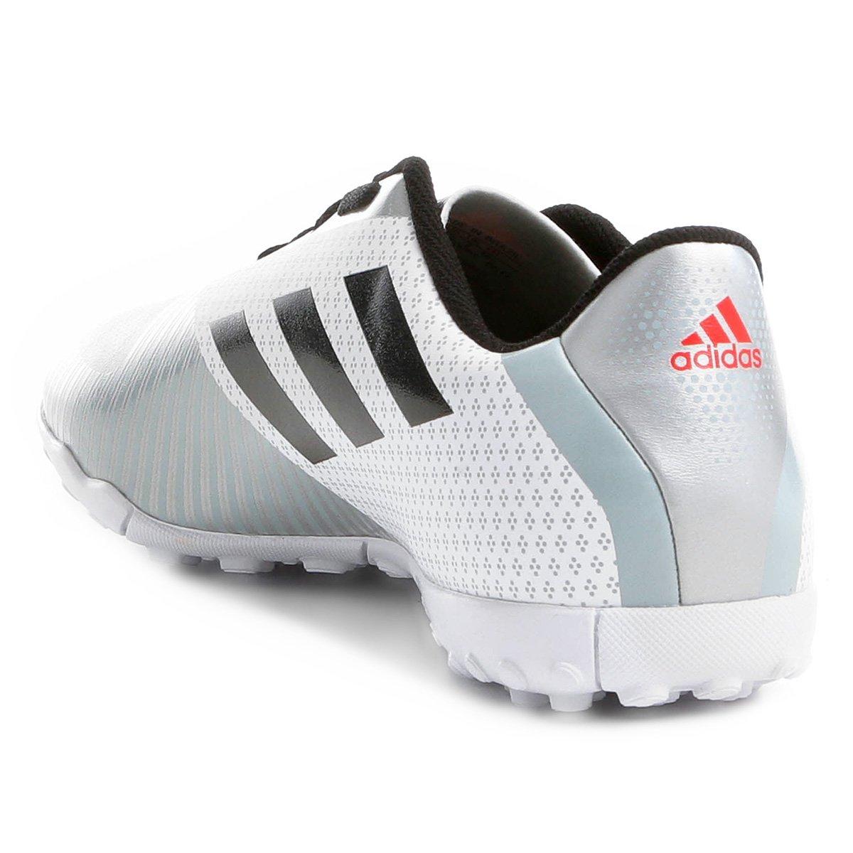Chuteira Society Adidas Artilheira 18 TF - Branco e Preto - Compre ... cb6e473644b06