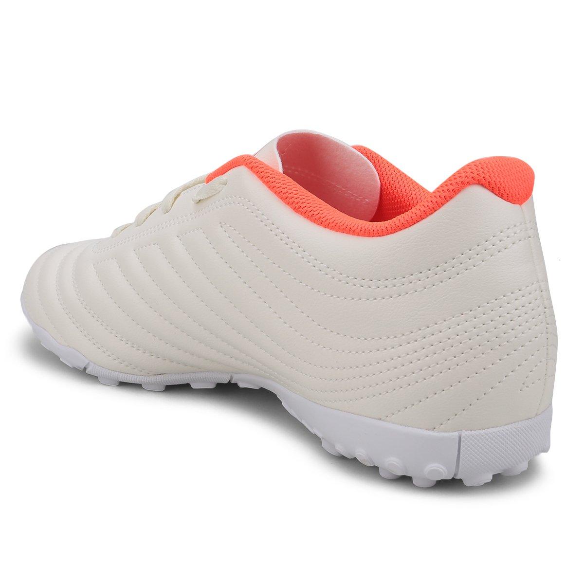 24ca158c6e Chuteira Society Adidas Copa 19 4 TF - Branco e Vermelho - Compre ...