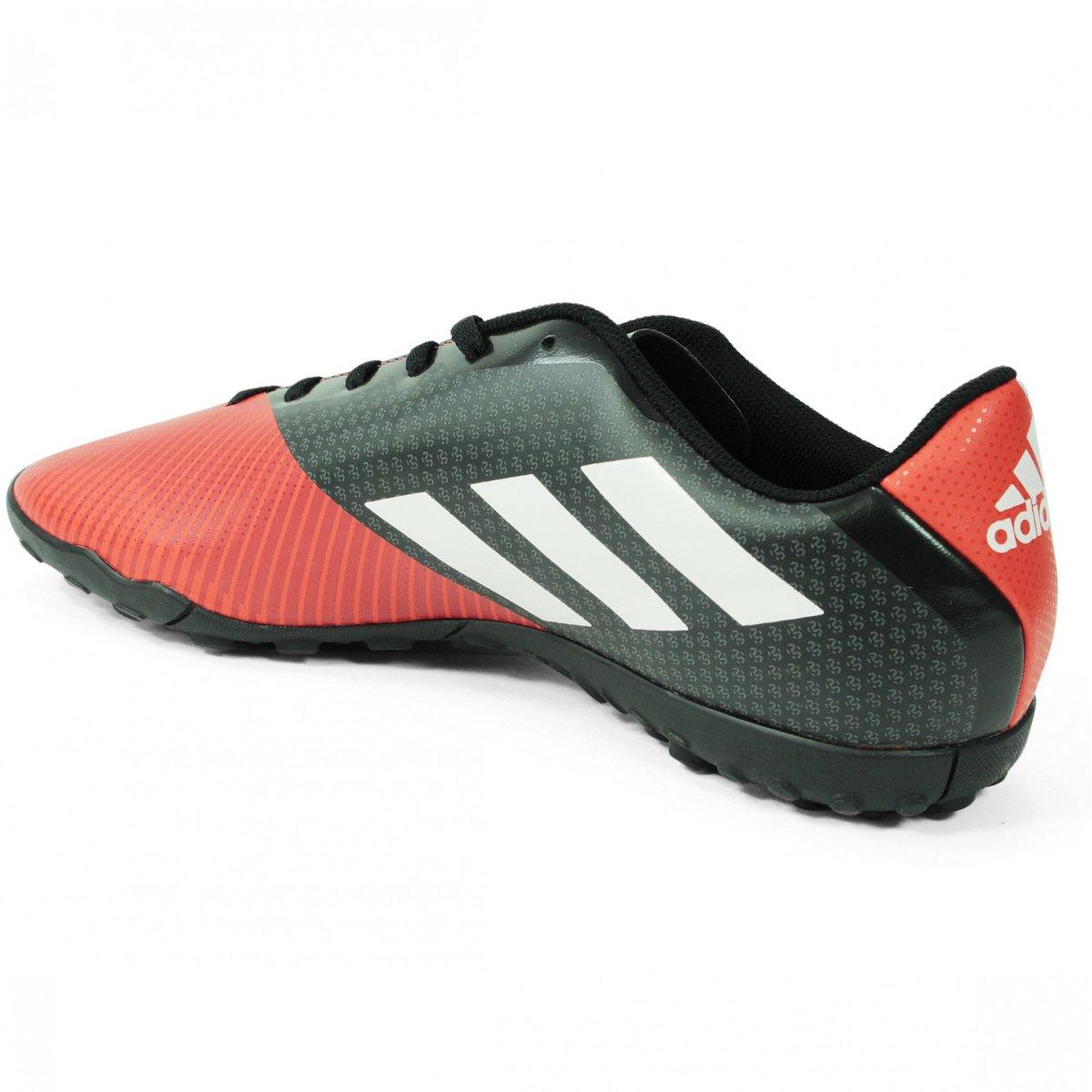 Chuteira Society Adidas Goletto VI TF - Preto e Laranja - Compre ... bbaf67d962e22