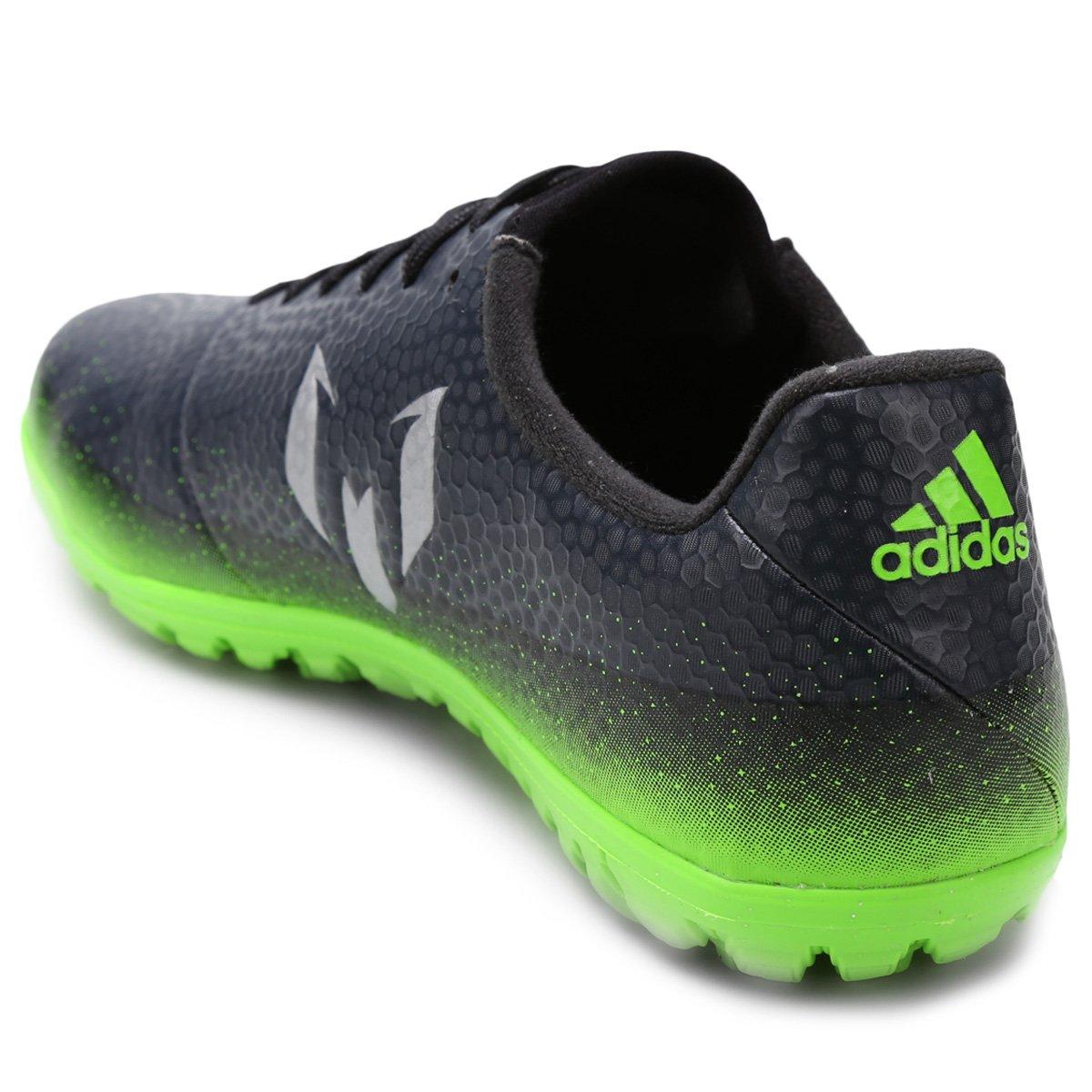 0ebab95c95 Chuteira Society Adidas Messi 16.3 TF Masculina - Chumbo e Verde ...