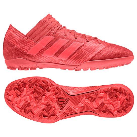 Chuteira Society Adidas Nemeziz 17.3 TF - Vermelho