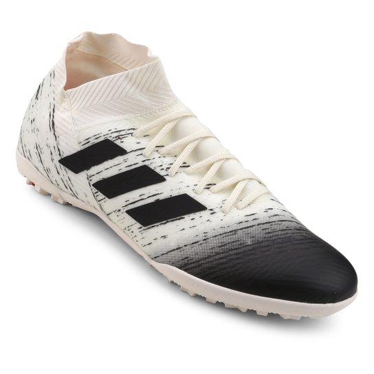 Chuteira Society Adidas Nemeziz 18 3 TF - Branco+Vermelho