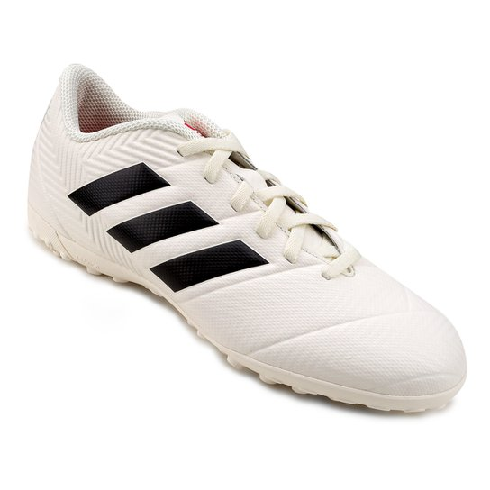 Chuteira Society Adidas Nemeziz 18 4 TF - Branco+Preto