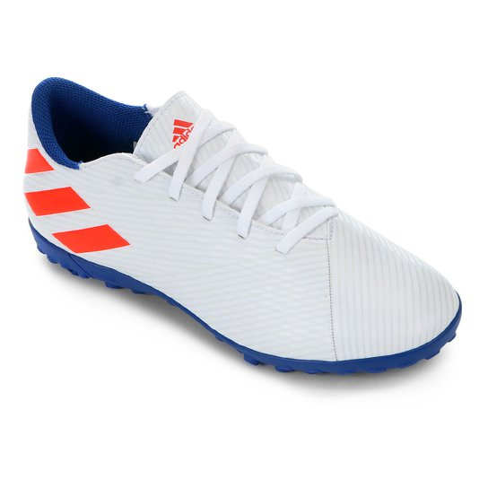 Menor preço em Chuteira Society Adidas Nemeziz Messi 19 4 TF - Azul Royal e Branco
