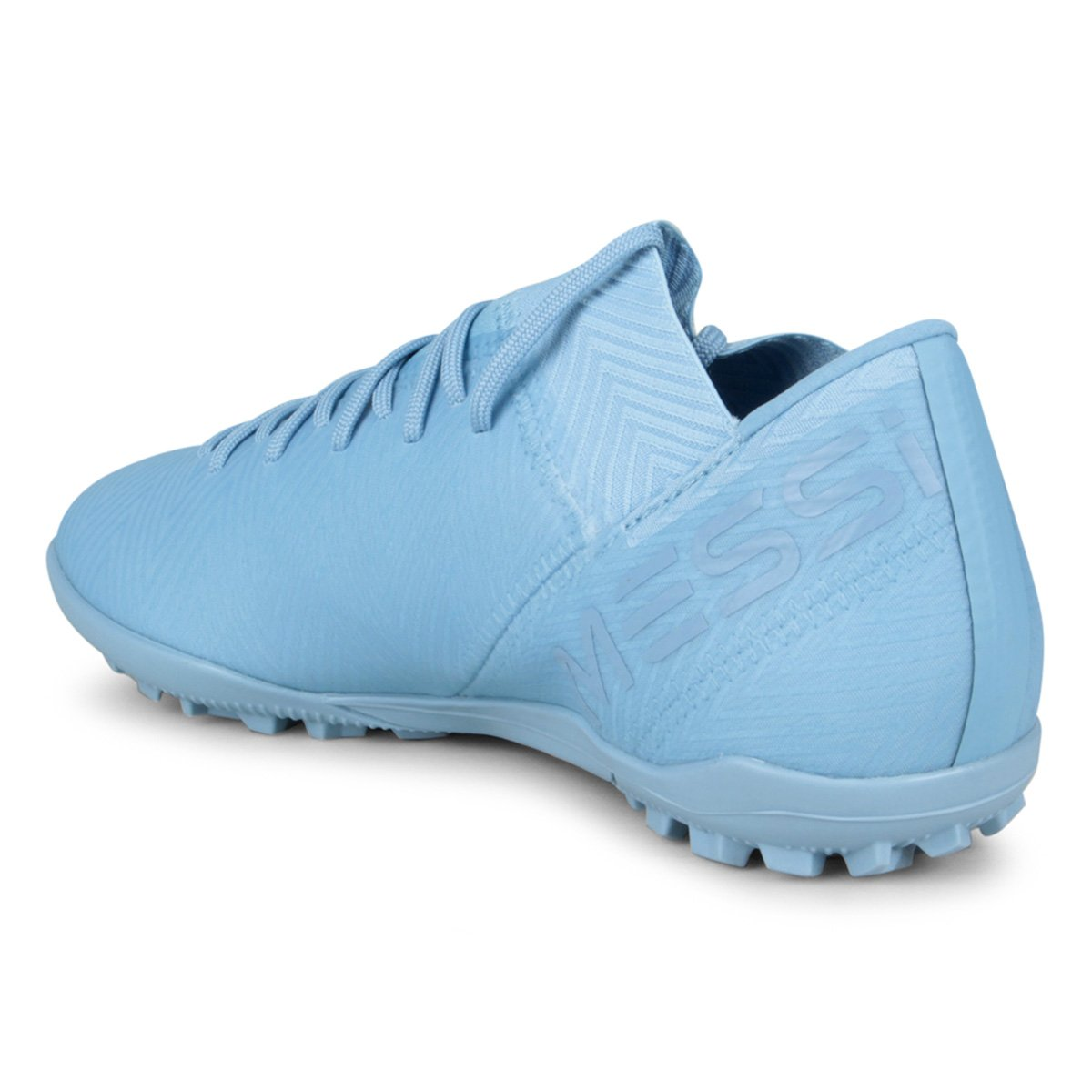 471962f3bc Chuteira Society Adidas Nemeziz Messi Tan 18 3 TF - Azul e Preto ...