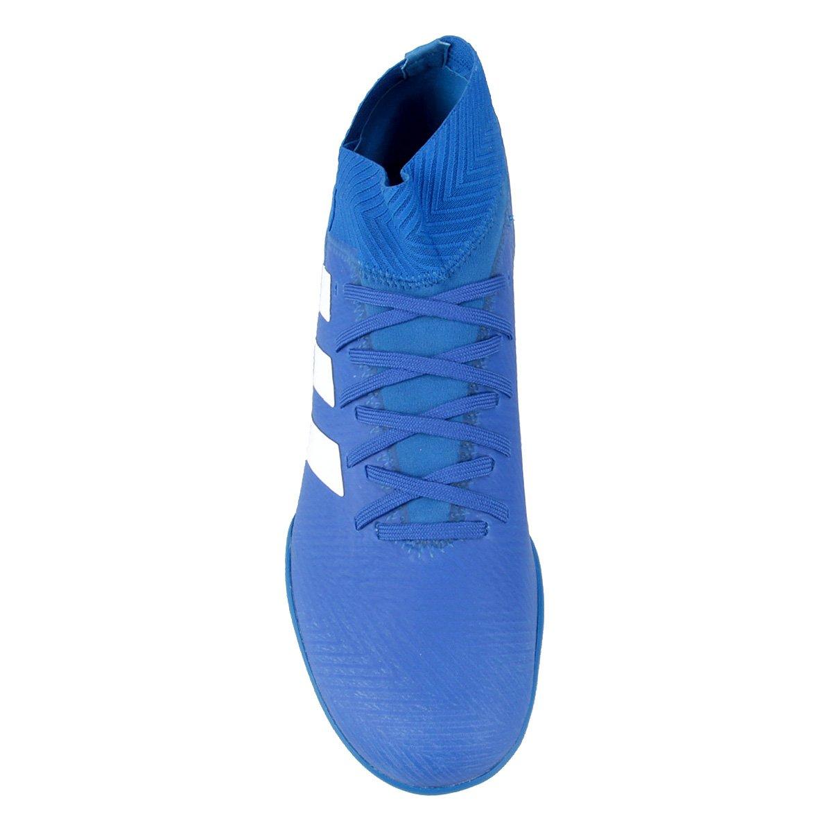 Tango Chuteira e 18 Masculina 3 Society TF Branco Adidas Nemeziz Azul qqwgfSt1