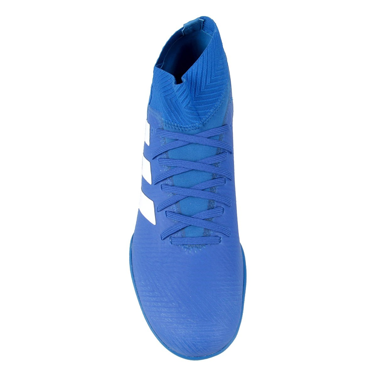 e924b9bed9 Chuteira Society Adidas Nemeziz Tango 18 3 TF - Azul e Branco ...