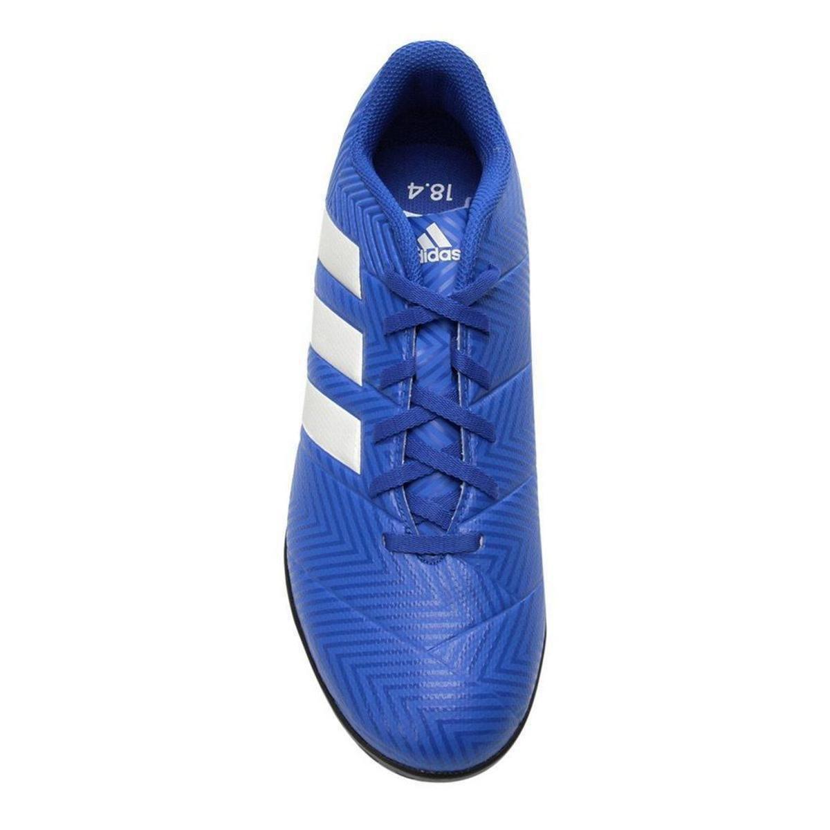 9a97336be8 Chuteira Society Adidas Nemeziz Tango 18 4 TF - Azul e Branco ...