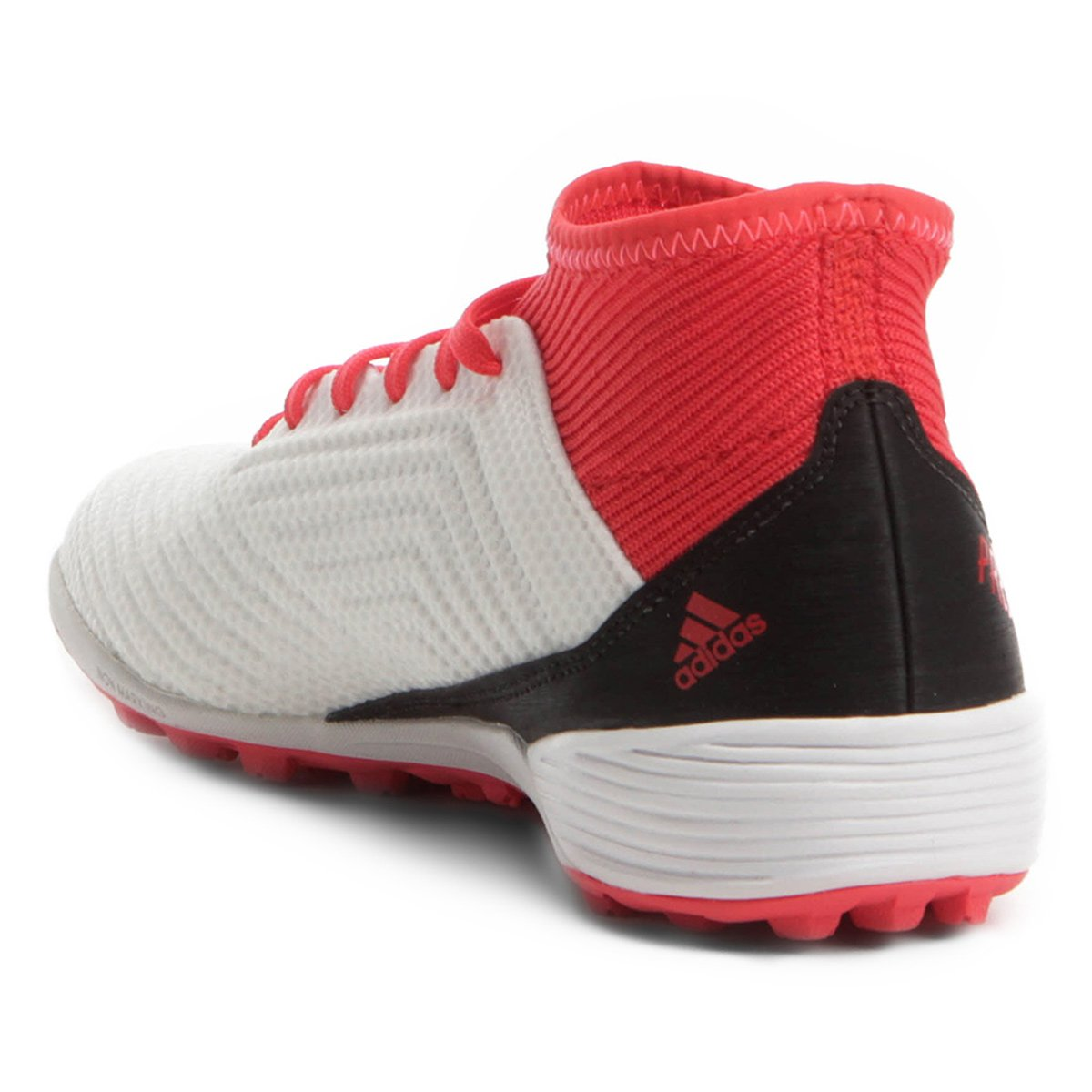 e681548309 Chuteira Society Adidas Predator 18 3 TF - Branco e Vermelho ...