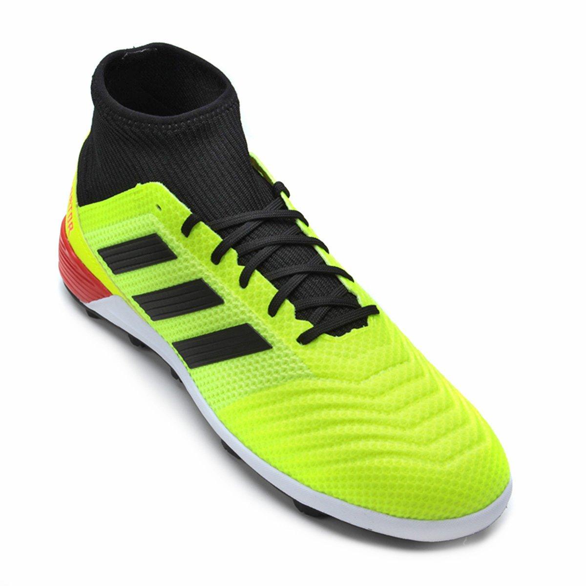 c6d5fd61e4 Chuteira Society Adidas Predator TAN 18 3 TF - Amarelo e Preto ...