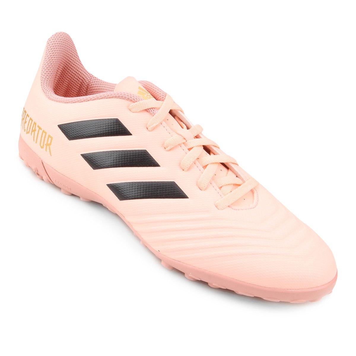 afijo pista Crítica  Chuteira Society Adidas Predator Tan 18 4 TF - Rosa e Preto | Netshoes