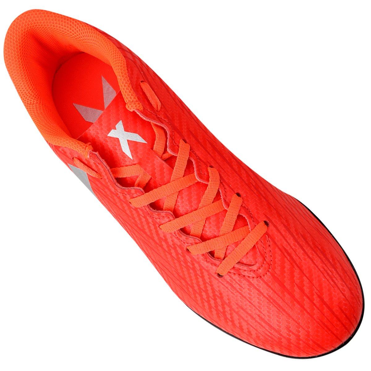 Masculina Chuteira TF Society Claro Adidas 16 X 4 Vermelho PTqCP