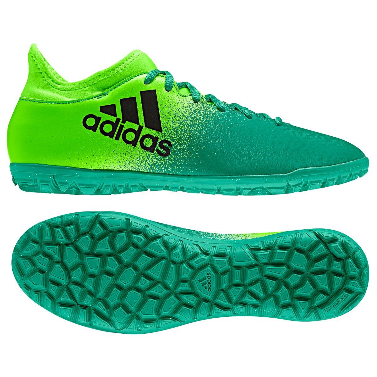 1d51dc35f ... chuteira society adidas x 16.3 tf masculina verde+preto