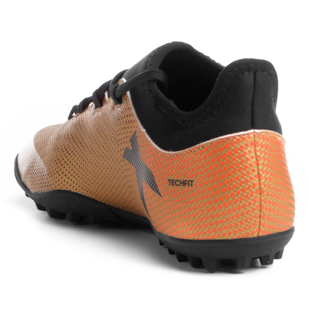 Chuteira Society Adidas X 17 3 TF - Dourado - Compre Agora  339e78e247c7c